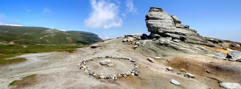 sphinx rock formation bucegi mountains romania