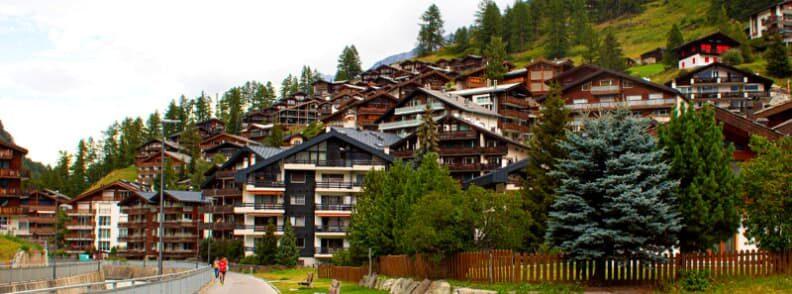 summer in zermatt village