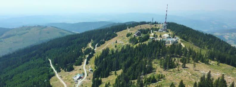 summer tobogganing in austria schockl mountain