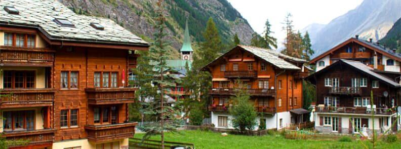 summertime in zermatt village