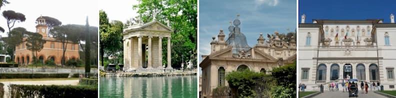 surprising places in rome villa borghese park