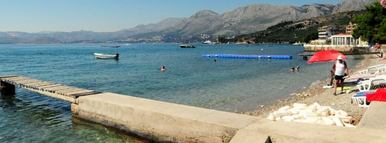 swimming lake ohrid lagadin beach