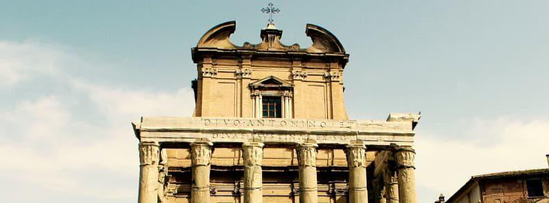 temple of antoninus and faustina roman forum