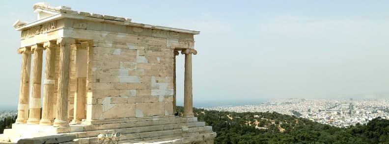 temple of athena nike acropolis hill city of athens