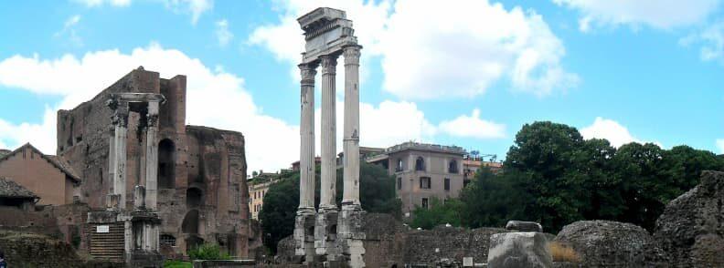 temple of castor and pollux dioscuri roman forum