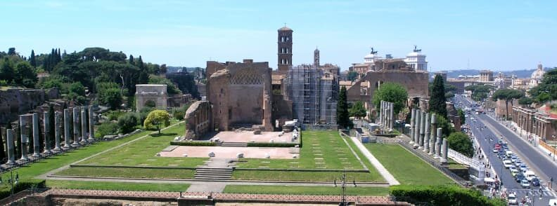 temple of venus and rome holiday itinerary