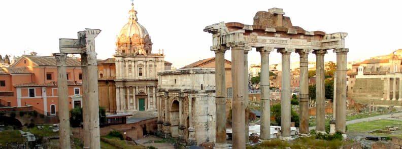 temple of vespasian and titus roman forum