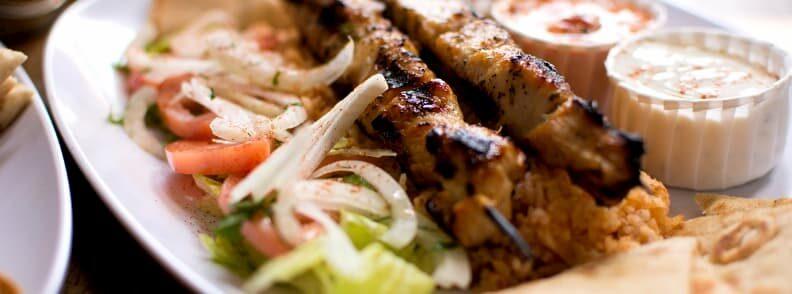 things to do acropolis area eat greek food souvlaki