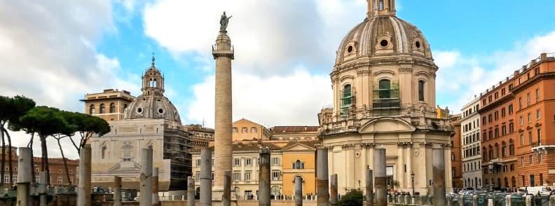 trajan forum column rome archaeological sites