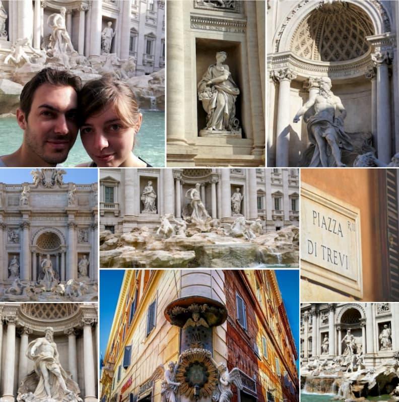 trevi fountain rome historical center