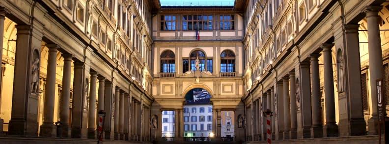 uffizi gallery florence italy with firenze pass