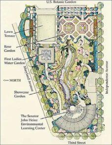 us botanic garden map