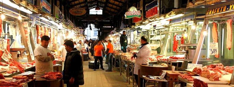 varvakeios athens central market