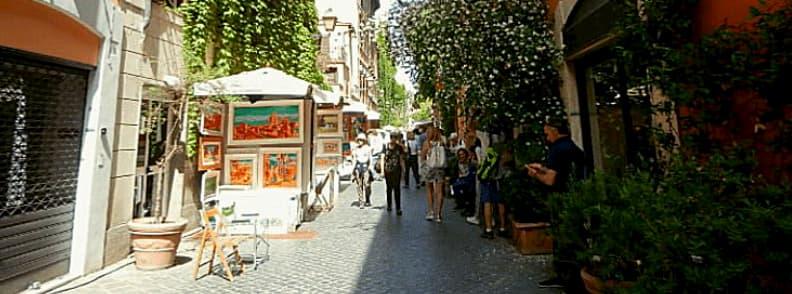 via margutta street in rome