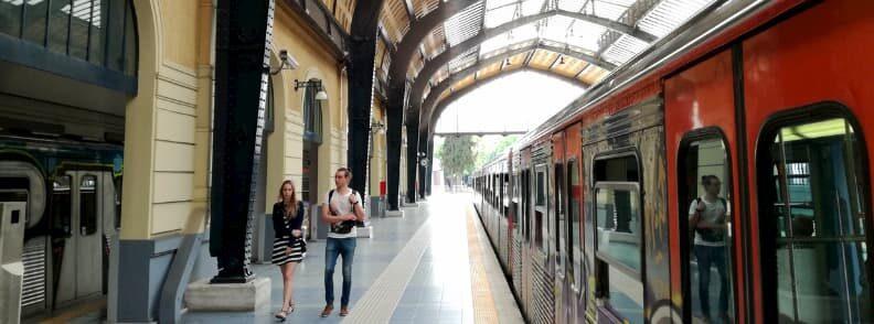 visit to piraeus train station