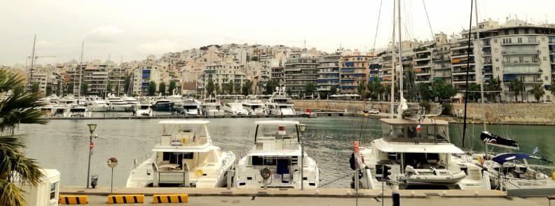 visit to piraeus zea marina boats