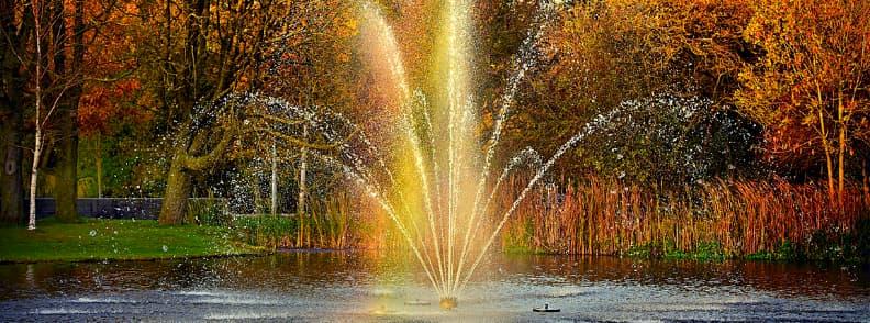 water fountain vondelpark amsterdam netherlands