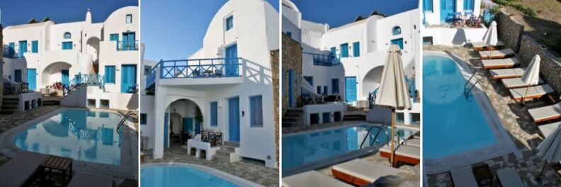 where to stay in santorini on a budget Sea Side Beach Hotel