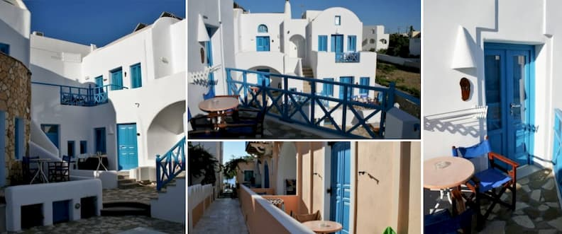 where to stay in santorini on a budget Sea Side Beach Hotel rooms