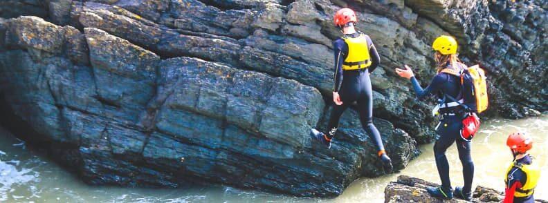 coasteering in the UK