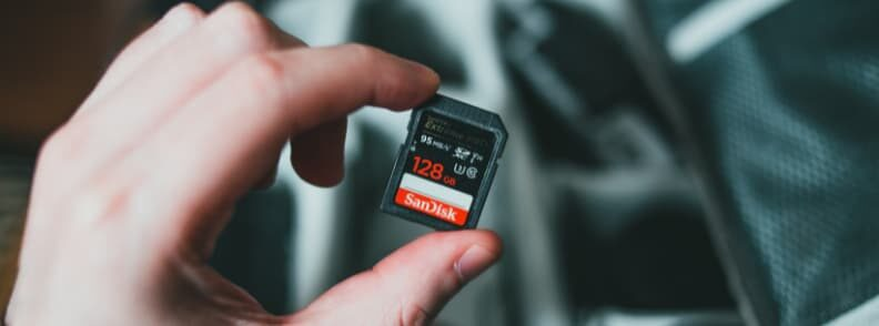 photo backup on a memory card