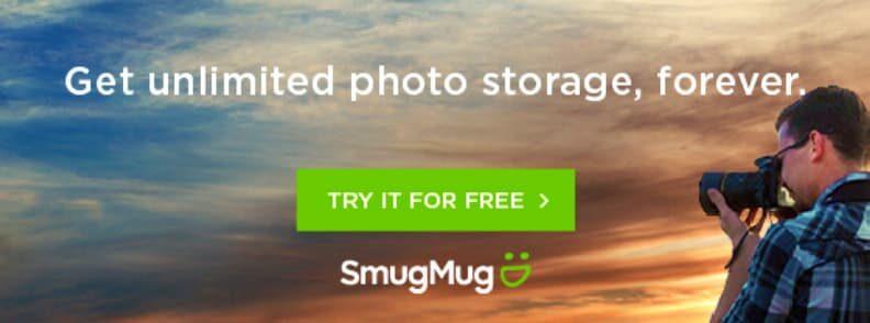 smugmug for unlimited photo storage
