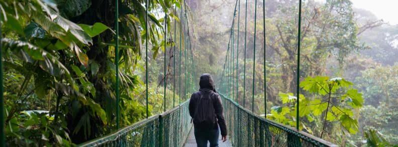 costa rica hanging bridge la fortuna